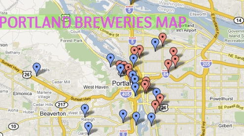 Portland Brewery Map Beer Utopia: List and Map of Portland Breweries | Beer & Sci Fi